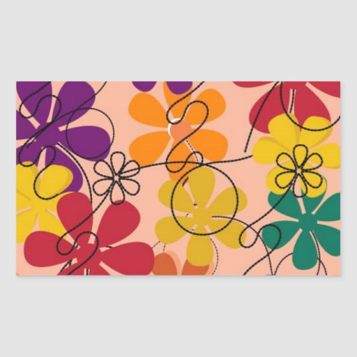 104 COLORFUL VECTOR FLOWERS COLLAGE GRAPHICS TEMPL STICKER