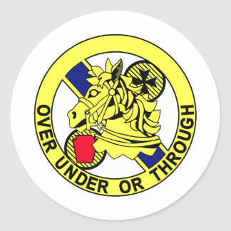 104th Cavalry Regiment-Insignia Color patch Classic Round Sticker