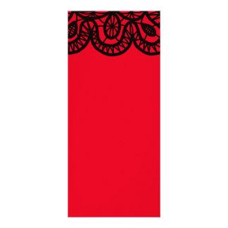 1050 GINGERBREAD TATTOO BLACK ABSTRACT ART LOGO TE CUSTOM RACK CARDS