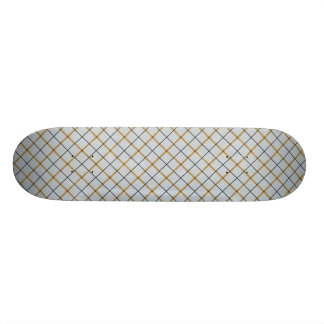 105 BLUE TAN DAD FATHER PLAID GRID SQUARES PATTERN 21.3 CM MINI SKATEBOARD DECK