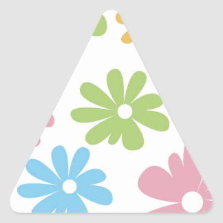 105 COLORFUL VECTOR FLOWERS COLLAGE GRAPHICS TEMPL TRIANGLE STICKERS