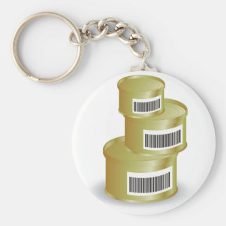 105Canned Food _rasterized Key Ring