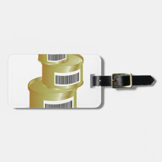 105Canned Food _rasterized Luggage Tag