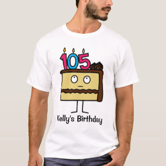 105th Birthday Cake with Candles T-Shirt