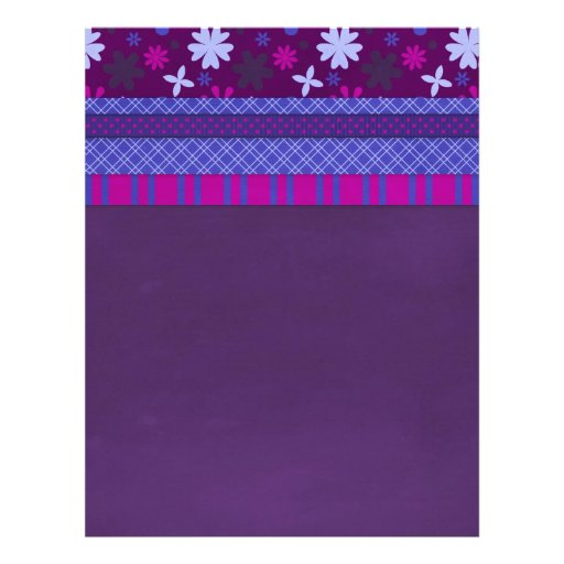 1066 PURPLE BLUE HOT PINK BACKGROUNDS STRIPES SOLI PERSONALIZED FLYER