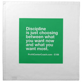 106- Small Business Owner Gift - Discipline Choice Napkin
