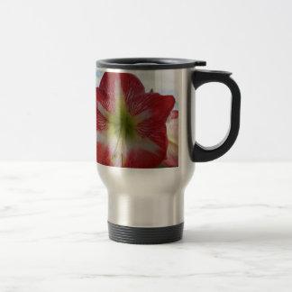 106a Amaryllis red and white MegaStar2 Travel Mug