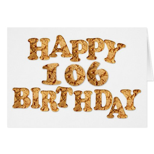 106th Birthday card for a cookie lover