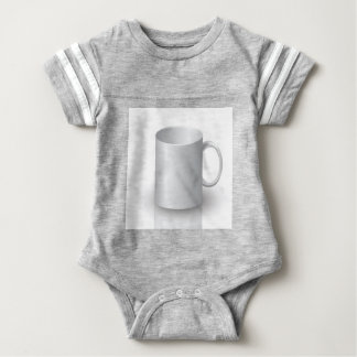 106White Mug _rasterized Baby Bodysuit
