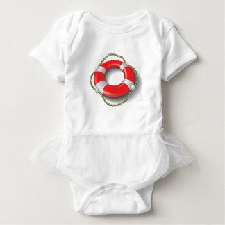 107Lifebuoy _rasterized Baby Bodysuit