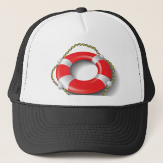107Lifebuoy _rasterized Trucker Hat