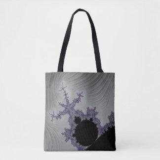 108-02 black mandy in a gray sky tote bag