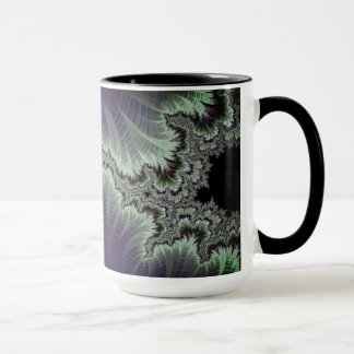 108-06 black mandy with white lightning mug