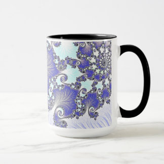 108-17 blue & white lace on light blue mug