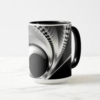 108-44 black & silver crescent moon mug