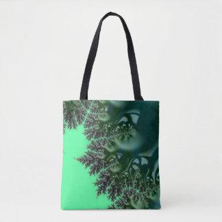 108-49 big green mandy on green tote bag