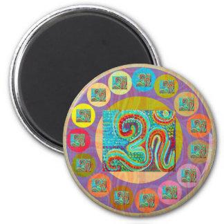 108 OM MANTRA for all 6 Cm Round Magnet