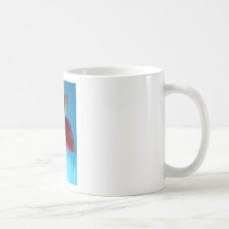 108a Vivid red Amaryllis Flower Coffee Mug