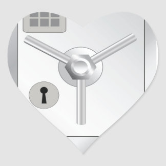108Metal Safe_rasterized Heart Sticker