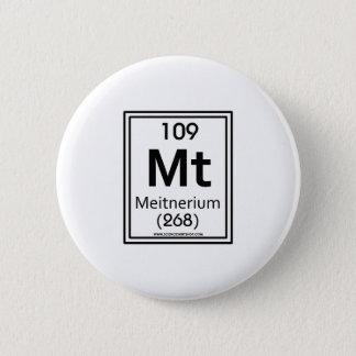 109 Meitnerium 6 Cm Round Badge