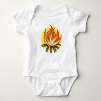 109Fire _rasterized Baby Bodysuit