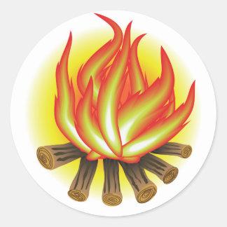 109Fire _rasterized Classic Round Sticker
