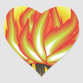 109Fire _rasterized Heart Sticker