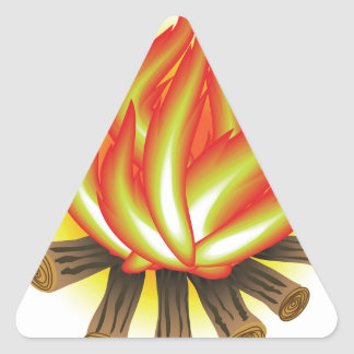 109Fire _rasterized Triangle Sticker