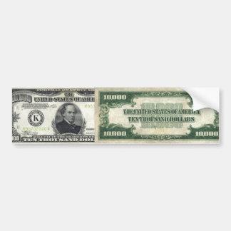 10 000 Bill Bumper Stickers