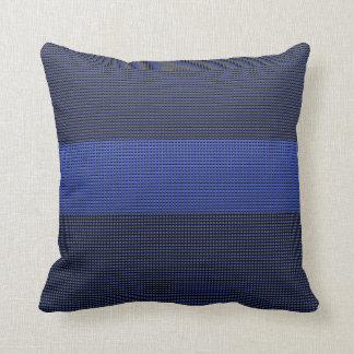 10 000 Thin Blue Line Buttons Throw Pillow