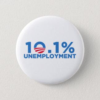 10.1 percent unemployment 6 cm round badge