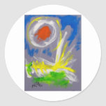 10-2 Abstract by Piliero Round Sticker
