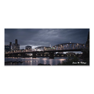 10 61 x 24 Hawthorne Bridge Portland Oregon Art Photo