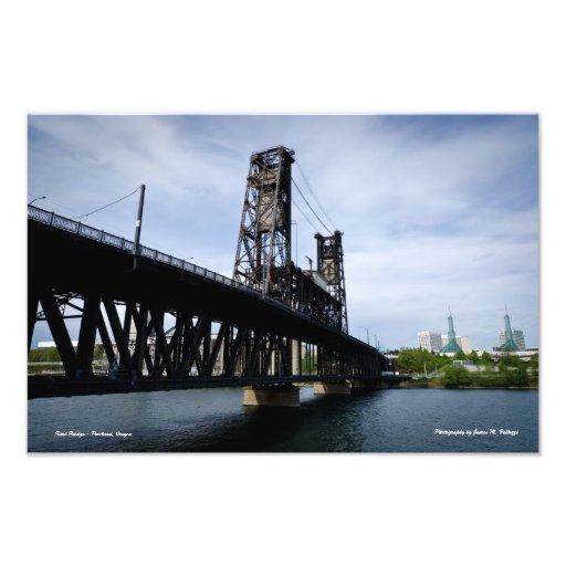 10.88 x 16.43 Steel Bridge Portland, Oregon Art Photo