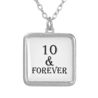 10 And  Forever Birthday Designs Silver Plated Necklace