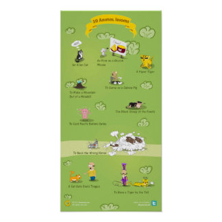 10 Animal Idioms and Their Meanings Poster