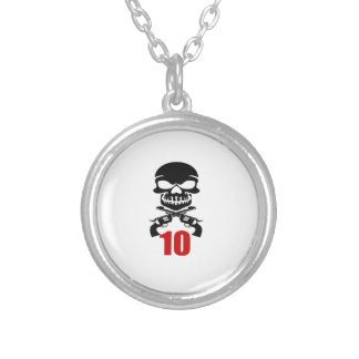 10 Birthday Designs Silver Plated Necklace