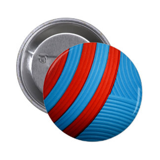 10 Blue & Red Abstract Sunshine Button Pin