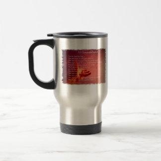 10 Comandments Travel Mug