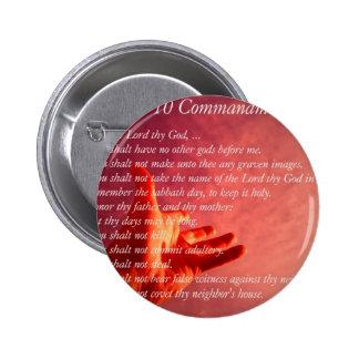 10 Commandments  Button