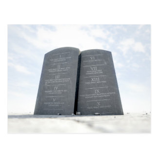 10 Commandments In Desert Postcard
