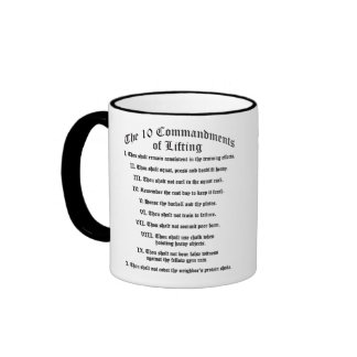10 Commandments of Lifting Ringer Mug