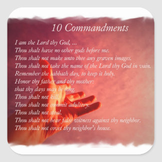 10 Commandments  Stickers