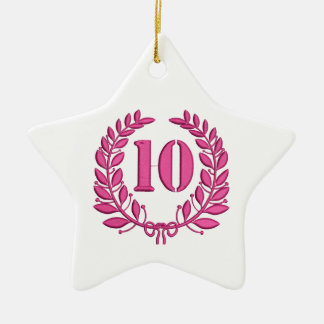 10 congratulation imitation of embroidery ceramic ornament
