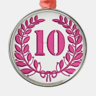 10 congratulation imitation of embroidery metal ornament