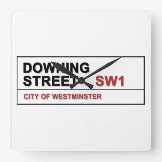 10 Downing Street London England Square Wall Clock