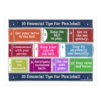 10 Essential Tips for Pickleball Postcard