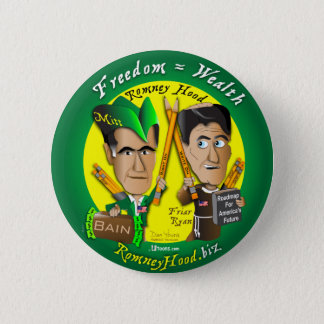 10. Freedom = Wealth 6 Cm Round Badge