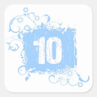 #10 Light Blue Grunge Sticker
