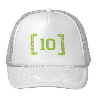 #10 Lime Green Cap